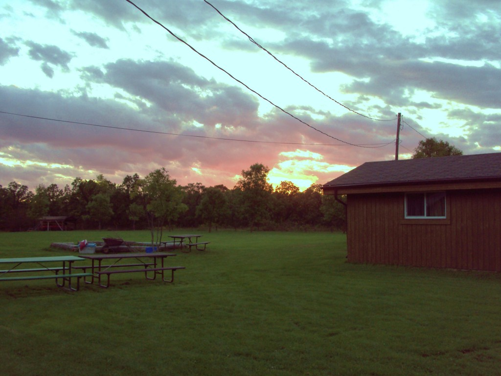 Sunset at Camp Manitou
